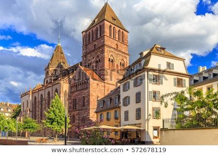 Igreja principal edifício viajar nuvem arquitetura Foto stock © borisb17