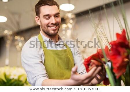 花屋 販売者 花屋 中小企業 販売 赤 ストックフォト © dolgachov