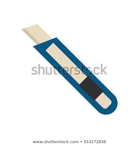 канцтовары ножом оборудование цвета вектора ретро Сток-фото © pikepicture