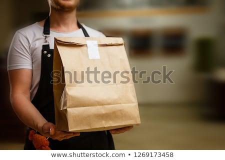 żywności torby papierowe biuro usługi ludzi Zdjęcia stock © dolgachov