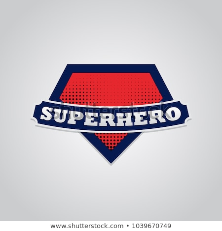 Emblem Hero Symbol Icon Vector Outline Illustration Stock photo © pikepicture