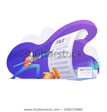 Biznesmen pióro jak oszczep człowiek Zdjęcia stock © sgursozlu