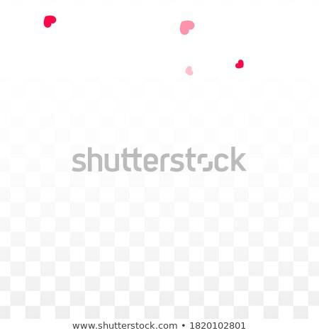 минимальный два Flying сердцах красный любви Сток-фото © SArts