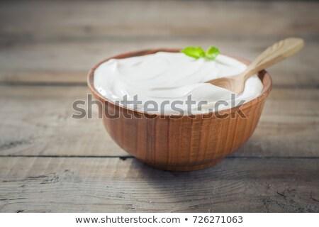 Greco yogurt vetro alimentare dessert Foto d'archivio © Pheby