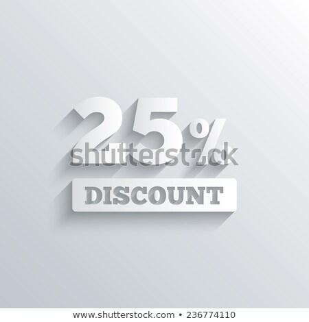 Melhor preço 25 por cento desconto cartão de presente vetor Foto stock © robuart