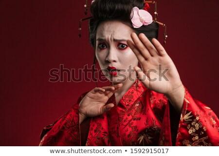 изображение гейш женщину Японский кимоно остановки Сток-фото © deandrobot