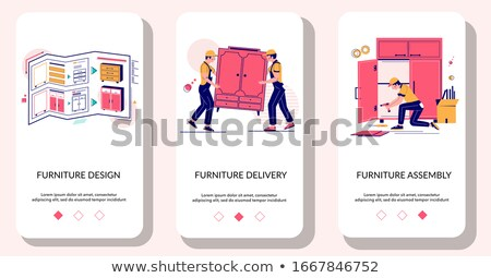 Furniture Delivery and Assembly Workers Website Stock photo © robuart