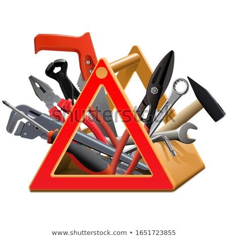 Vector toolbox geïsoleerd witte bouw metaal Stockfoto © dashadima