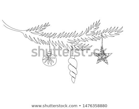 Firka egyszerű vektor kézzel rajzolt minta boldog új évet Stock fotó © karetniy
