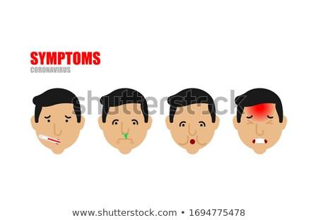Maux de gorge fièvre tousser faiblesse maux de tête Photo stock © popaukropa