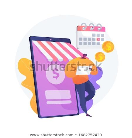 Rendszeres pénzátutalás vektor metafora pénz tranzakció Stock fotó © RAStudio