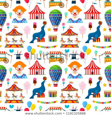 Amusement Park Seamless Pattern Vector Stock photo © pikepicture