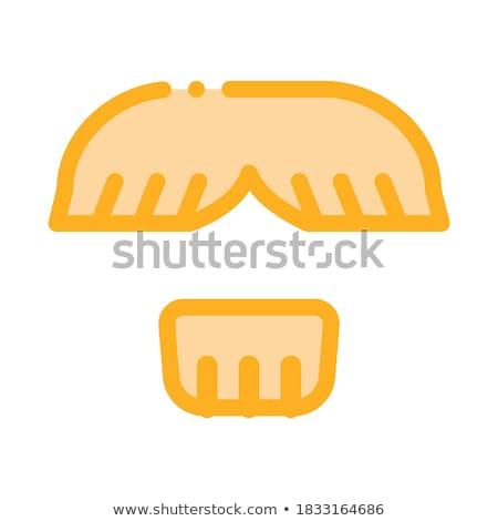 Yüz bıyık çene saç ikon Stok fotoğraf © pikepicture