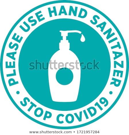 Stop Coronavirus Covid19 Signage or Sticker. Stock photo © almagami
