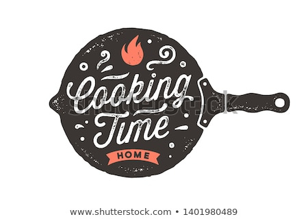 Vintage kitchen frying pan. Kitchen wall decor, sign Stock photo © FoxysGraphic