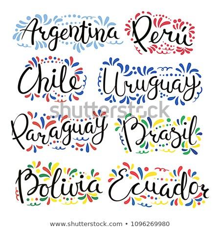 Chile bandeira mão branco viajar liberdade Foto stock © butenkow
