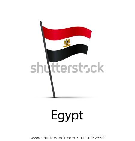 Egipto bandera polo infografía elemento blanco Foto stock © evgeny89
