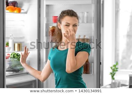 Slechte rot geur koelkast koelkast man Stockfoto © AndreyPopov