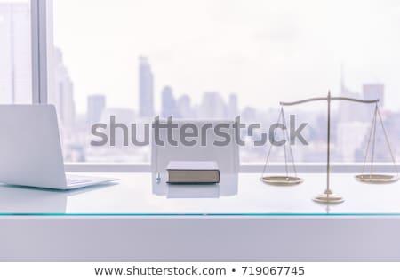 Hukuk firma tablo ahşap masa dengelemek Stok fotoğraf © limbi007