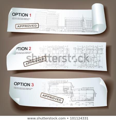Marca nome banner business strategia di marketing Foto d'archivio © RAStudio