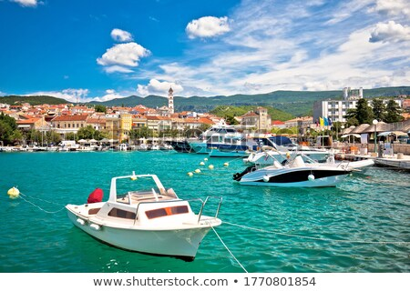 Crikvenica. Town on Adriatic sea waterfront aerial view Stock photo © xbrchx
