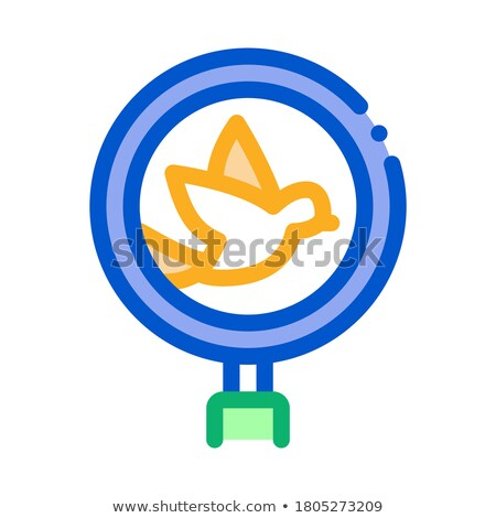 Bird Ornithology Research Icon Thin Line Vector Stock photo © pikepicture
