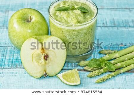 Verde manzanas espárragos boda fiesta alimentos Foto stock © tromboneart