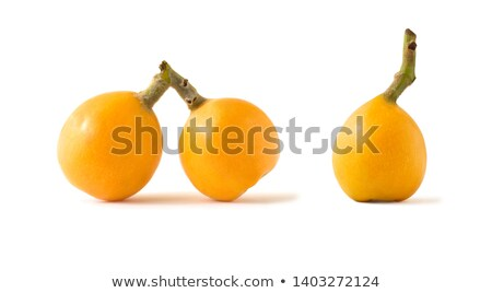 group of loquat fruits isolated on white background stock photo © ansonstock
