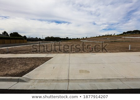 Division of land for building roads.  Stock photo © inxti