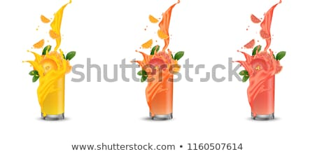 Pieza naranja alimentos fondo beber leche Foto stock © Rob_Stark