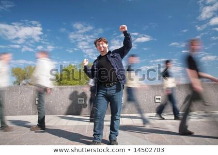 Permanente man handen bewegende hemel Stockfoto © Paha_L