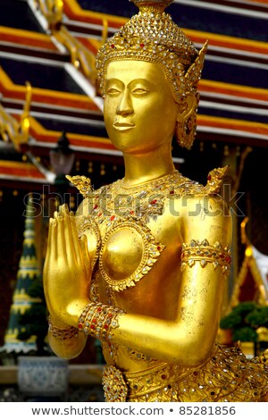 Female figure in the Grand Palace in Bangkok Stock photo © duoduo