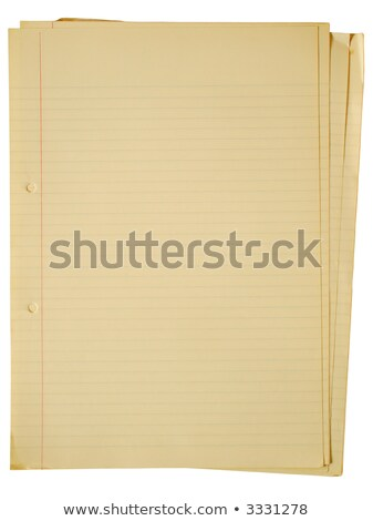 Old yellowing A4 faint lined sheets of paper. Stock photo © latent