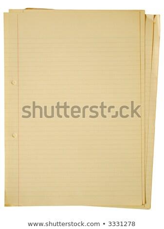 kleur · nota · houten · tafel · kantoor · papier · schrijven - stockfoto © latent