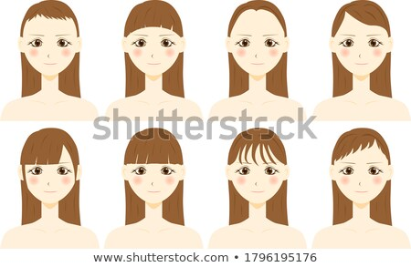 Pretty young woman with a blunt fringe Stock photo © photography33