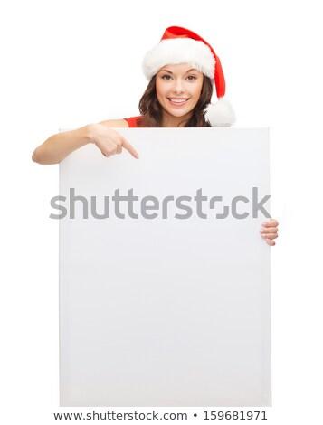 dziewczyna · zimą · hat · pokładzie · happy · girl · szczęśliwy - zdjęcia stock © dolgachov
