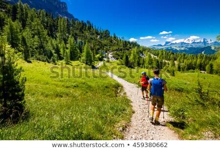 Туристов пути женщину Поход горные итальянский Сток-фото © Antonio-S