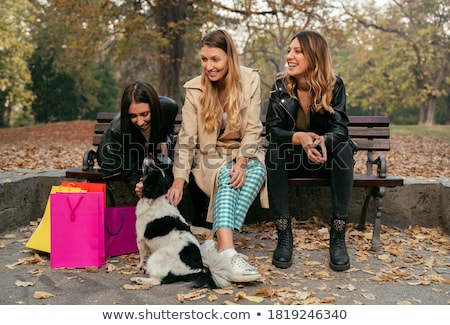 Girl on Bench Stock photo © PetrMalyshev