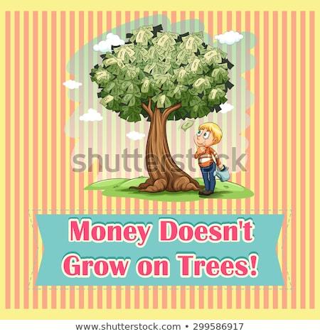 деньги расти деревья иллюстрация доллара монеты Сток-фото © Alvinge