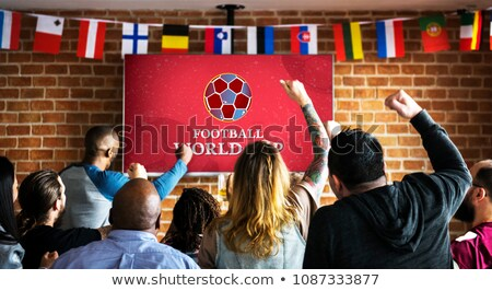 German football fans watching the game on television Stock photo © photography33
