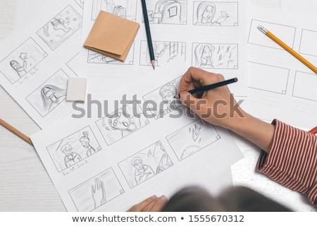 Resim yazı oluşturma dizayn kutu sanayi yardım Stok fotoğraf © bmwa_xiller