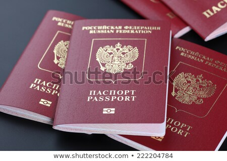 Russian passport with microchip Stock photo © AGorohov