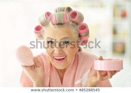 Old lady with hair rollers Stock photo © photography33
