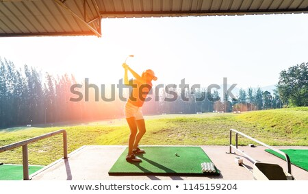 Donna amatoriale golf amore felice metal Foto d'archivio © photography33