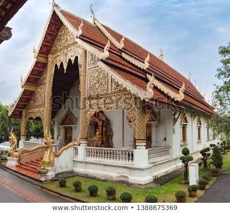 the building houses in church at phra singh temple stock photo © nuttakit