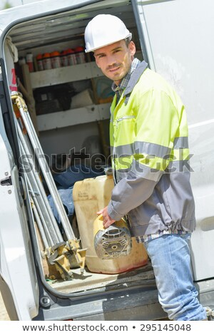Construction foreman arriving in to work Stock photo © photography33