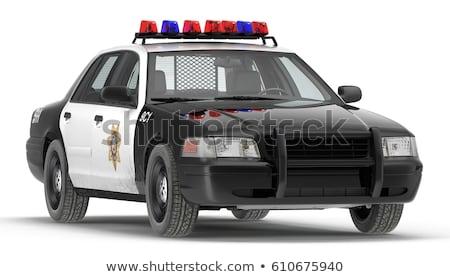 policía · coche · aislado · blanco · resumen · ley - foto stock © lkeskinen