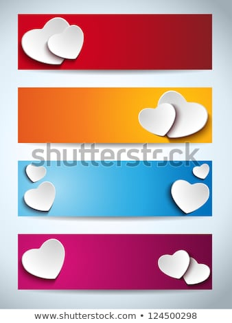 Four banner graphic with Valentine's day illustration stock photo © articular