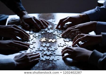 Pénzügyi puzzle 3D pénz utolsó darab Stock fotó © macropixel