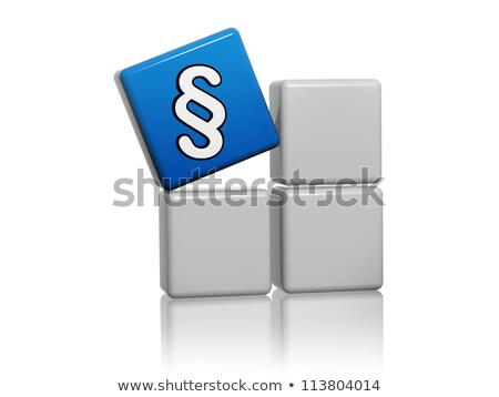 blue cube with paragraph sign on boxes Stock photo © marinini